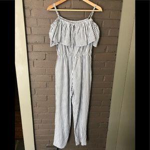 - H&M  striped off shoulder jumpsuit 10